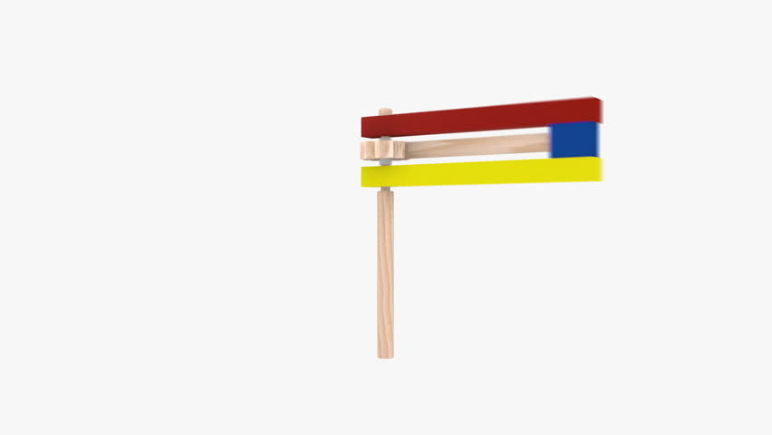 Colorful wooden noisemaker Purim holiday. on white Background