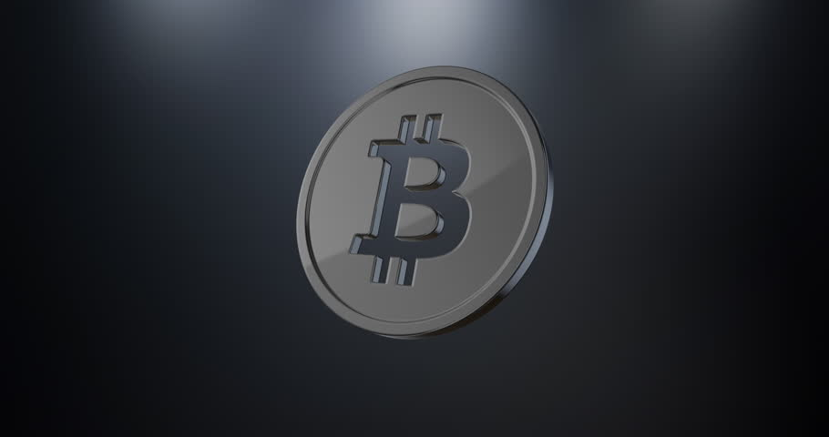 Animated Coin Bitcoin Black 3d Icon Loop Modules for edit with alpha matte | Shutterstock HD Video #23055928