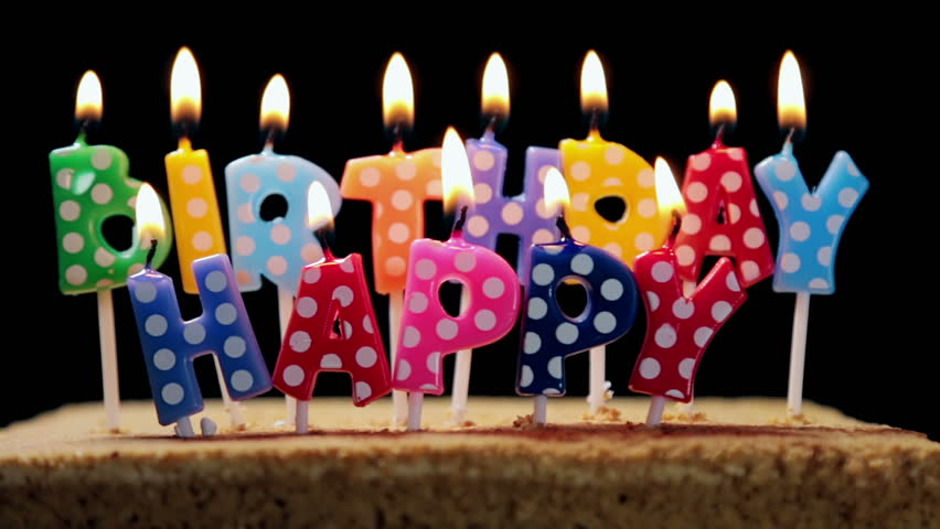 Lighted Candles On A Birthday Stock Footage Video 100 Royalty Free