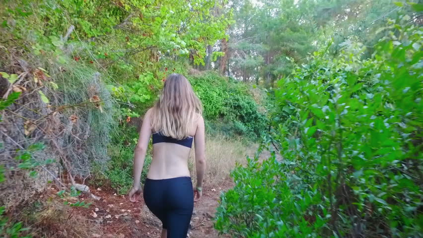 Girl shows the way where to go on trail | Shutterstock HD Video #23060431