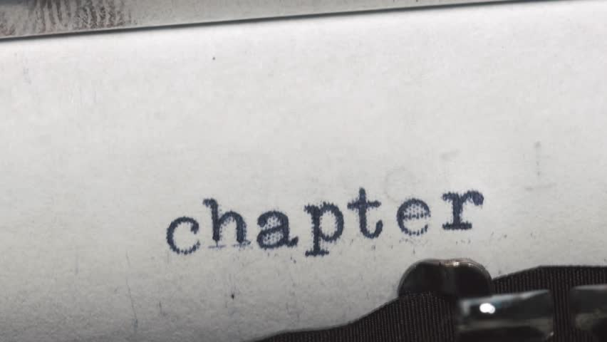 Chapter 1. Typed on an old vintage typewriter