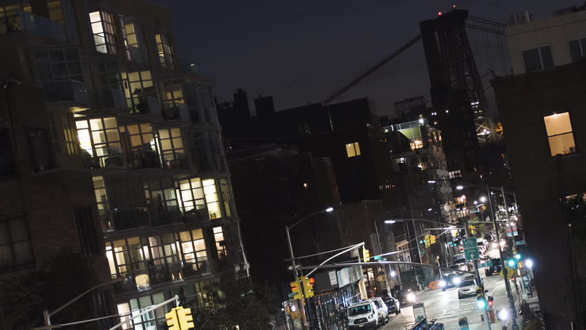 Construction Of One Of The Apartment Buildings At Night Time