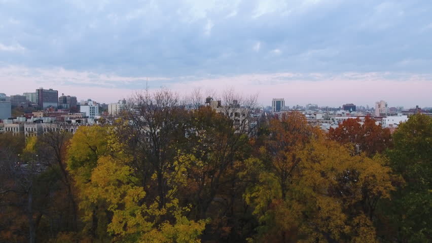Aerial footage of Harlem, NYC. Drone footage shot during the autumn of 2016 in the north end of Central Park. | Shutterstock HD Video #23203750
