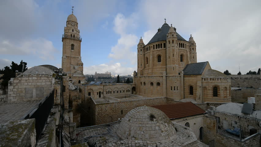 The Dormition Abbey In Old City Of Jerusalem Israel Middle East