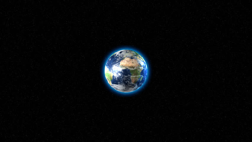 3D animation of Earth exploding. Camera dollies in. 720P