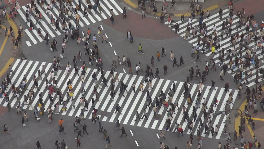 People waiting to cross Shibuya pedestrian street, Tokyo, Japan | Shutterstock HD Video #2324018