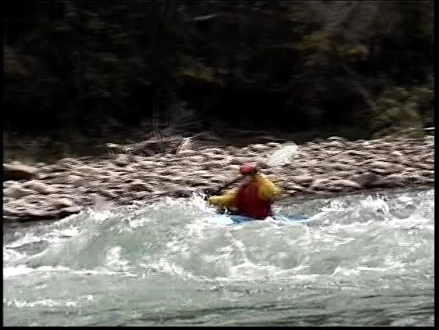 kayak through frame fast extreme close up (digital8)