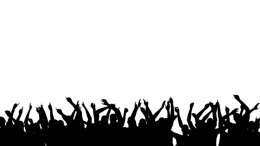 Free Images Black And White People Crowd Statue: Dancing Crowd, Black Silhouette Over Stock Footage Video
