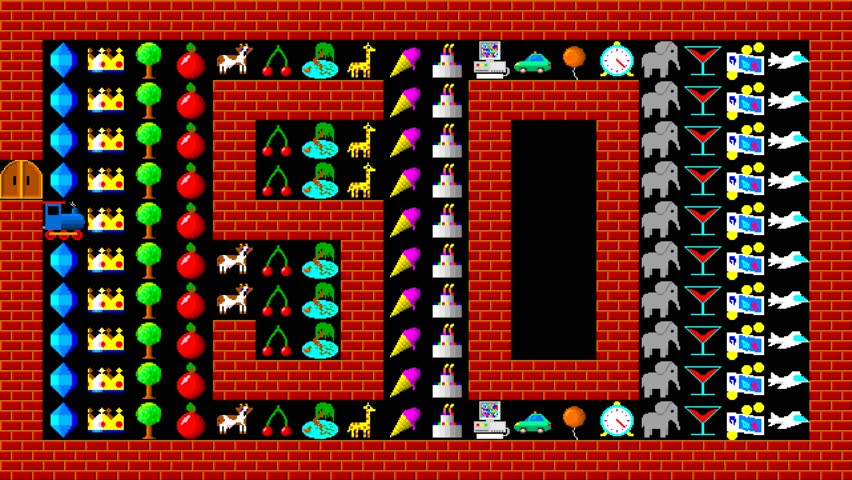 train puzzle retro style low resolution pixelated game graphics animation level 50 4k