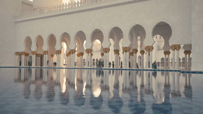 Exterior: Stock Video Clip Of UAE, 2017: Sheikh Zayed Grand Mosque