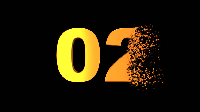 Exploding / Morphing Countdown from Ten.  Each number explodes into a burst of particles then reforms and morphs into next number.  One second gap for easy editing included. ORANGE on BLACK version | Shutterstock HD Video #23352568