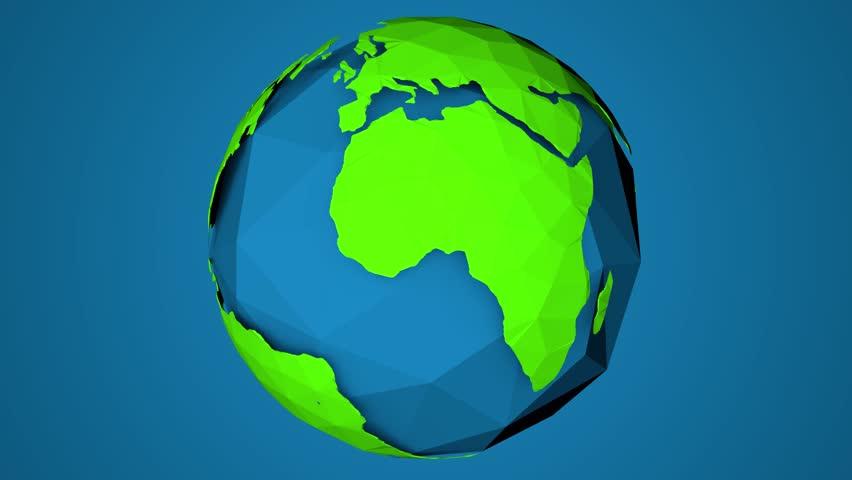 Loop Earth Animation. Slow Cartoon Animation Of Earth ...