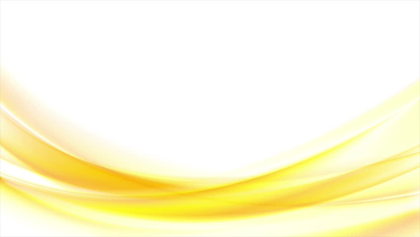 Bright yellow orange blurred abstract waves on white background. Smooth seamless loop design. Video animation Ultra HD 4K 3840x2160