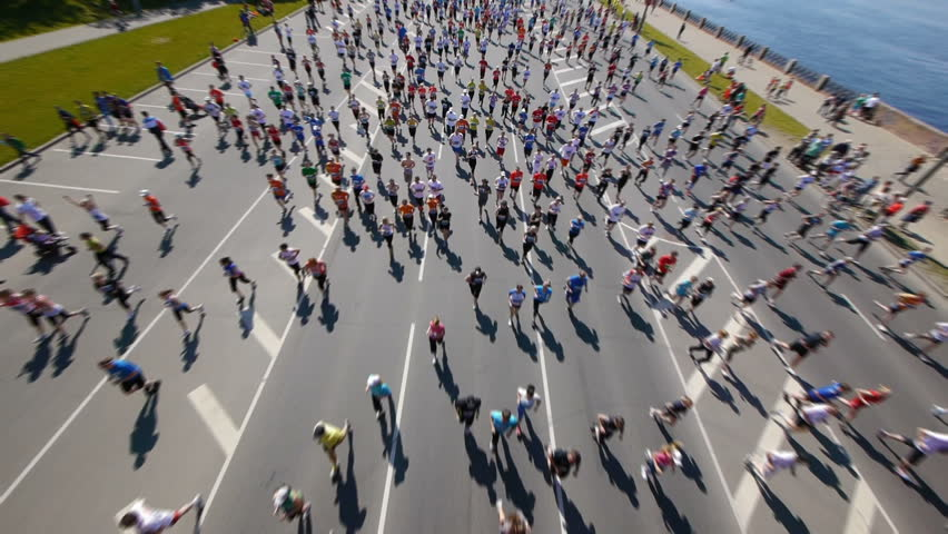HD - City marathon. Top view | Shutterstock HD Video #2340758