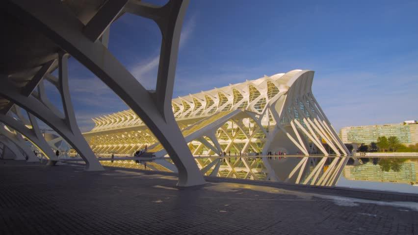 Modern Architecture Videos valencia spain 25 december 2016: city center with modern