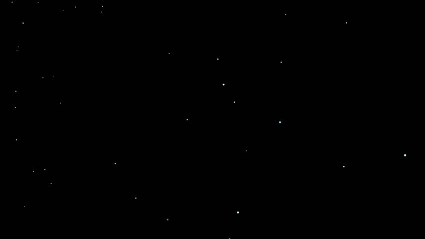 Abstract stylized animation with electro-magnetic radiation to outer space background with moving stars | Shutterstock HD Video #23455228