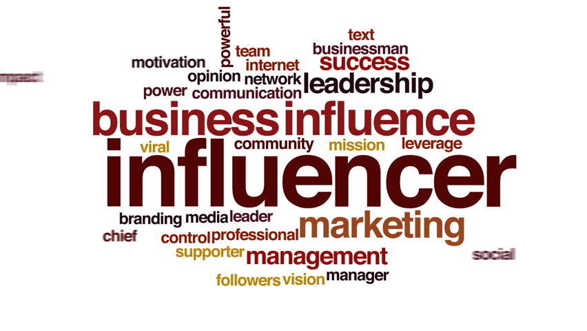 Influencer animated word cloud, text design animation. | Shutterstock HD Video #23463394