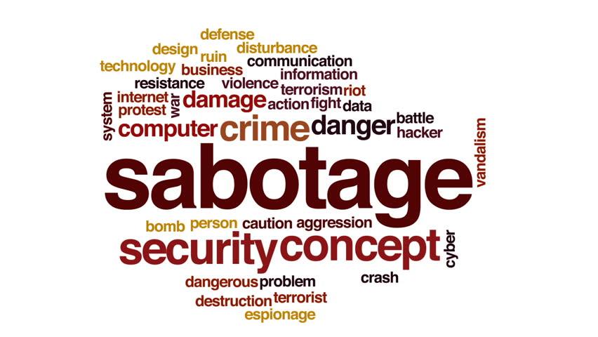 Header of sabotage