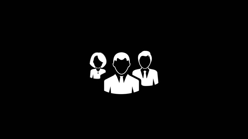 Group Of People Flat Icon | Shutterstock HD Video #23502478