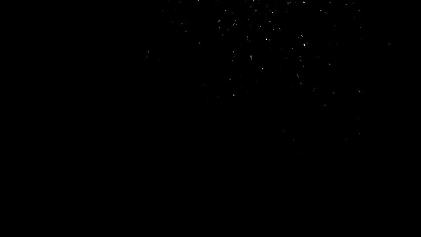 Real snow falling isolated against black background | Shutterstock HD Video #23560048