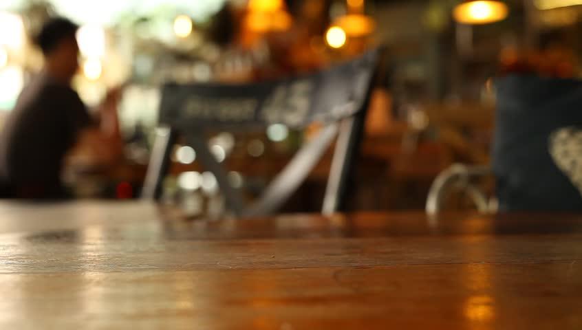 Restaurant Kitchen Background blur background : chefs cooking food in a restaurant kitchen stock