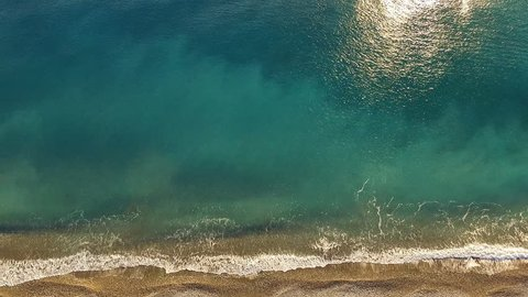 Aerial view of the surf.