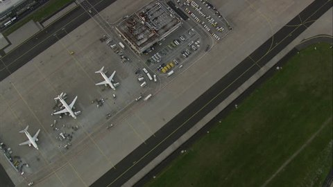 Frankfurt Airport At Dusk