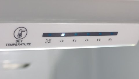 Refrigerator Temperature Controls. Electronic control. Touch Panel. Temperature up. Energy saving