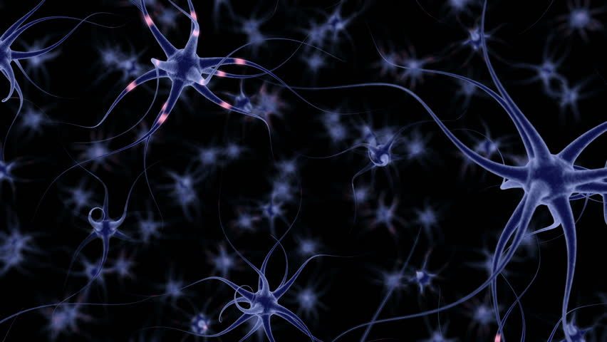 Neuron Cells, with sending informations, simulation (3d rendering) #23752498
