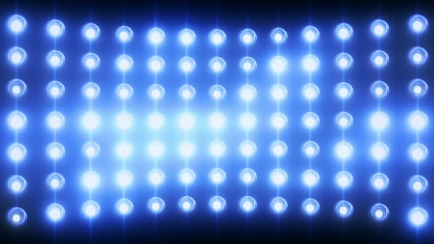 Bright flood lights background with particles and glow. Blue tint. Seamless loop. More color options available in my portfolio.