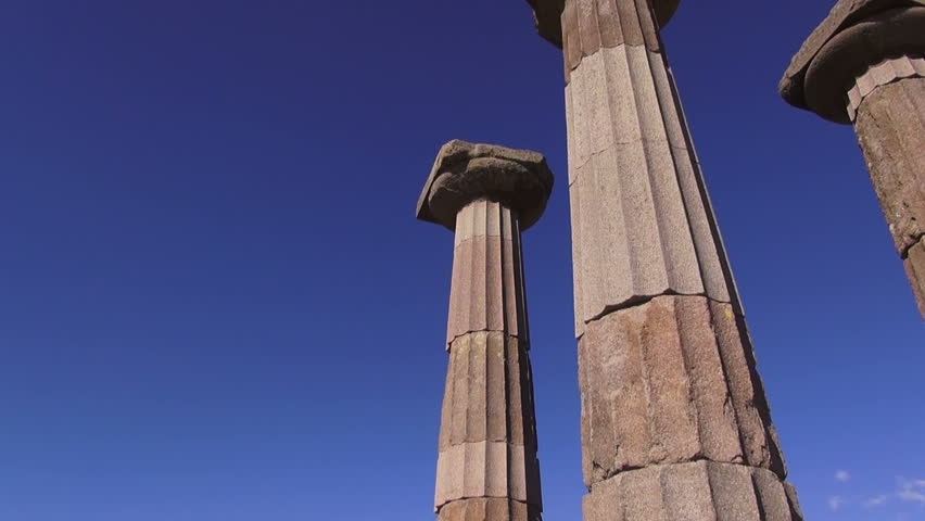 Animated Ancient Greek Pillars Loop-able 4K. 3d Rendering ...