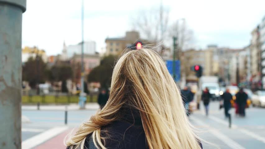 Woman Walking Through Zebra Cross   Shutterstock HD Video #23917804