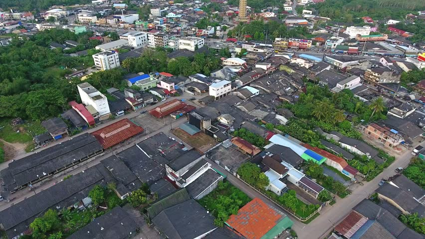 aerial shot of nuea khlong downtown district krabi thailand nuea khlong is home