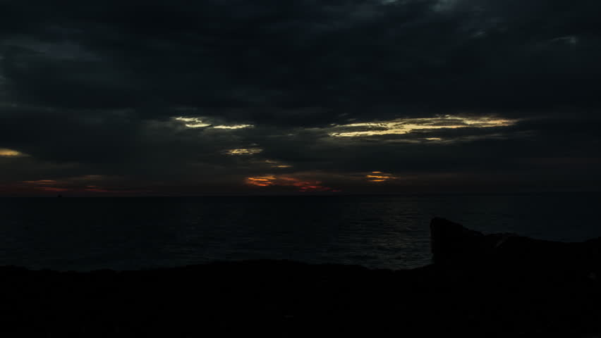 beautiful sunrise over Lake Michigan time lapse