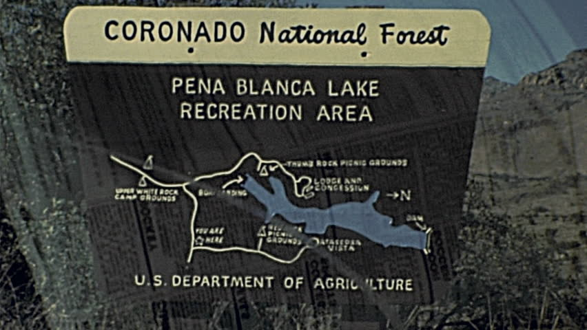 usa 1985 coronado national forest sign in 1985 in usa hd stock footage