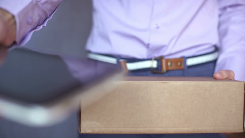 Header of parcel