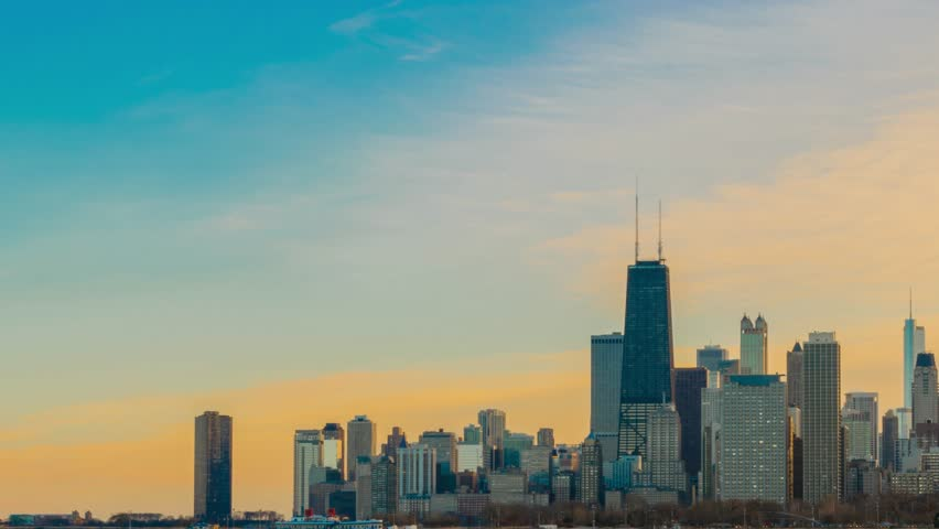 Chicago's Skyline Timelapse on a Cold Winter Day | Shutterstock HD Video #24065728