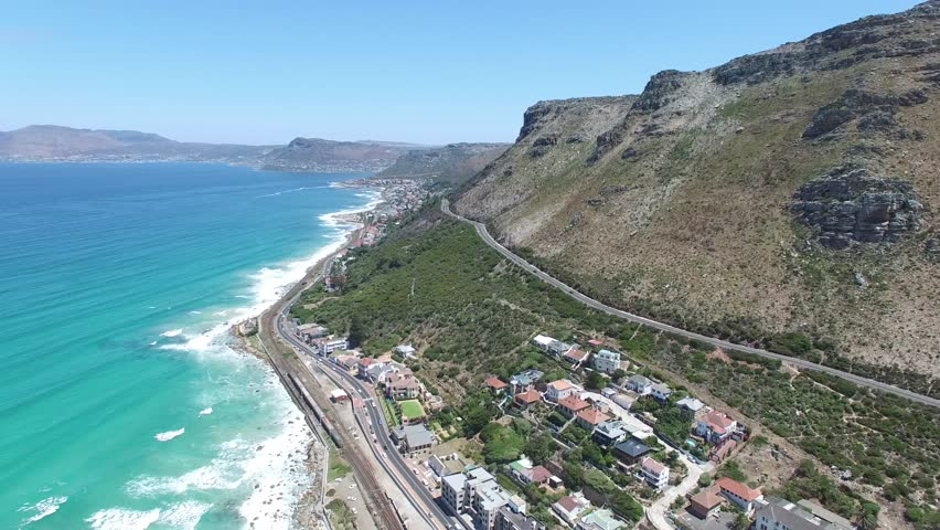 Aerial shot Capetown South Africa