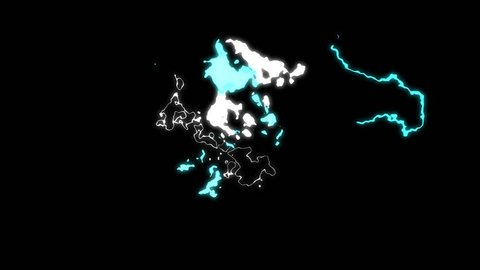 Electric special effect shock wave with alpha channel black background