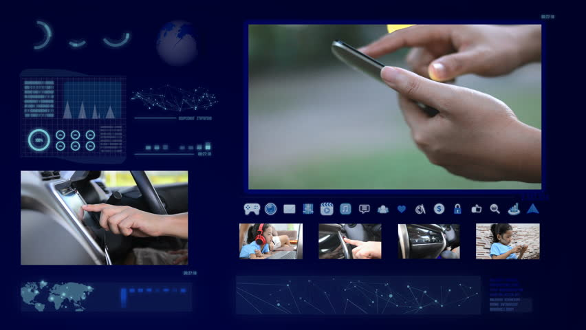 Hands of man and woman using touch screen mobile and car with technology concept footage and element | Shutterstock HD Video #24145498