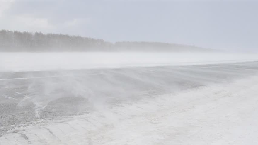 snowy road in winter