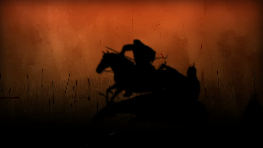 Computer Generated Battlefield W/4 battle scenes (silhouettes).../ Battlefield