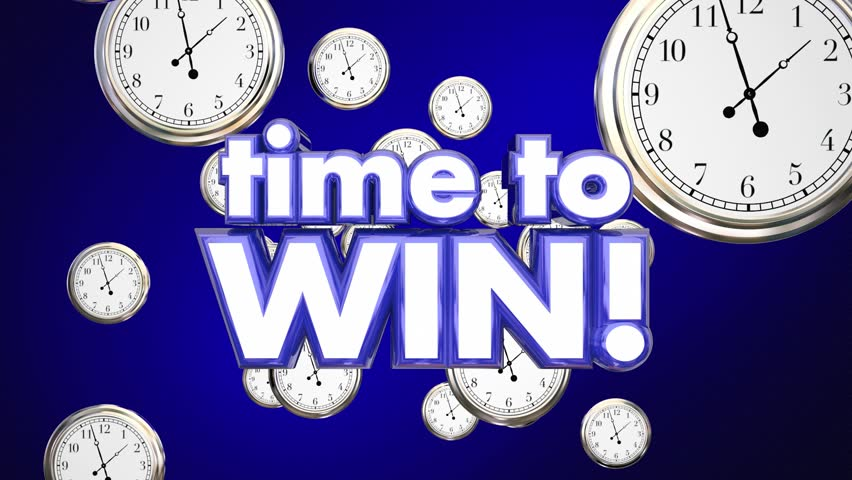 Time to Win Clocks Victory Team Attitude 3d Animation #24177448