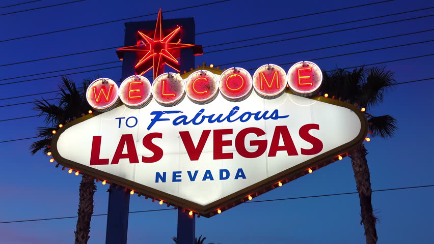 High quality video of welcome to fabulous Las Vegas Sign at night in 4K | Shutterstock HD Video #24193651
