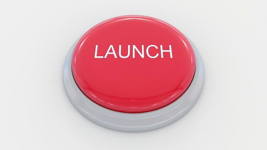 Pushing big red button with launch inscription. Conceptual 4K clip | Shutterstock HD Video #24200068