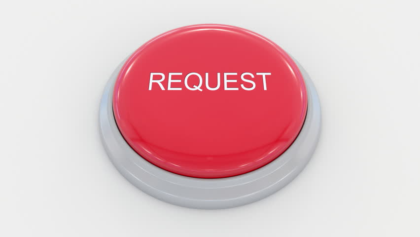 Pushing big red button with request inscription. Conceptual 4K clip | Shutterstock HD Video #24200152