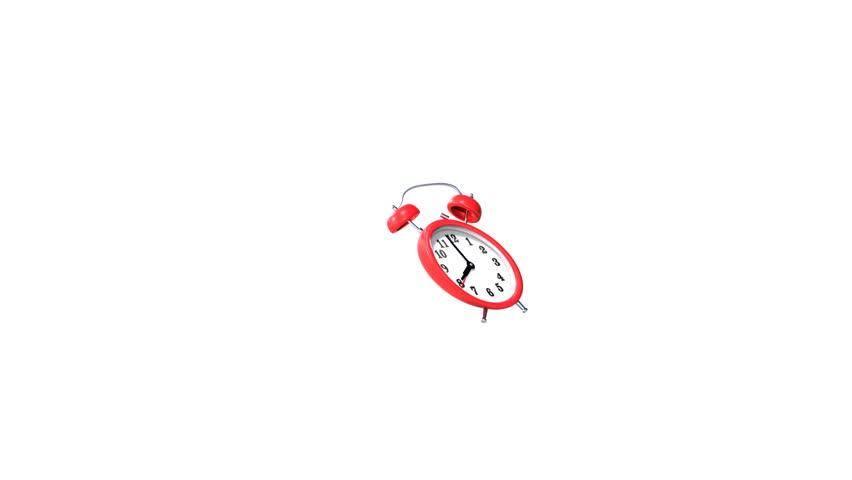 Red alarm clock animation