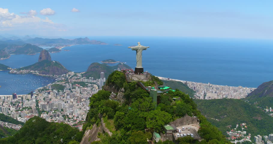 Aerial view of Sugarloaf Mountain and Botafogo Bay, Rio de Janeiro, Brazil | Shutterstock HD Video #24213898