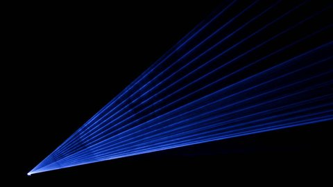 High quality video of blue laser show in 4K