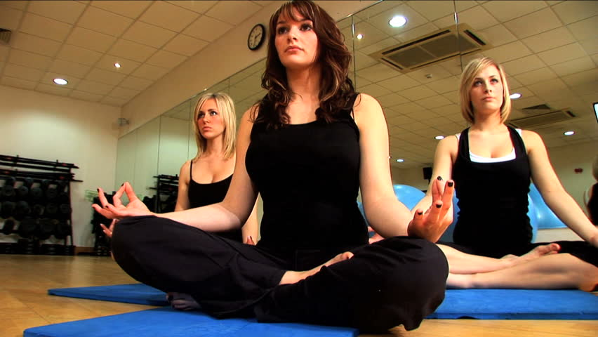 Beautiful Women in Yoga Class
